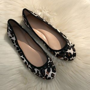 Banana Republic Calf Hair Leopard Ballet Flats